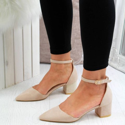 ELEGANT POINTED TOE COURT HEELS CASUAL SANDALS
