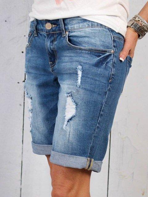 Blue Vintage Denim Pants