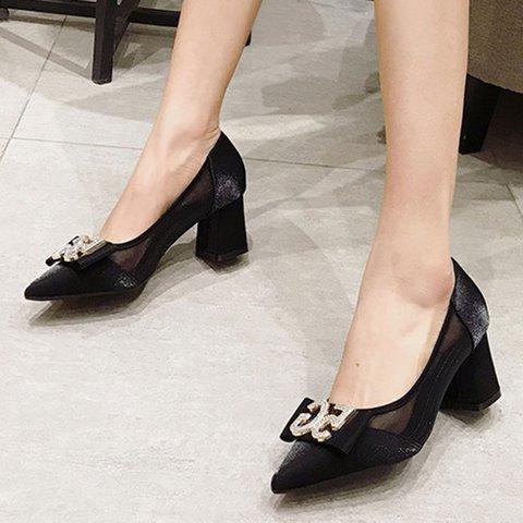Pointed Toe Chunky Heel Elegant Sandals