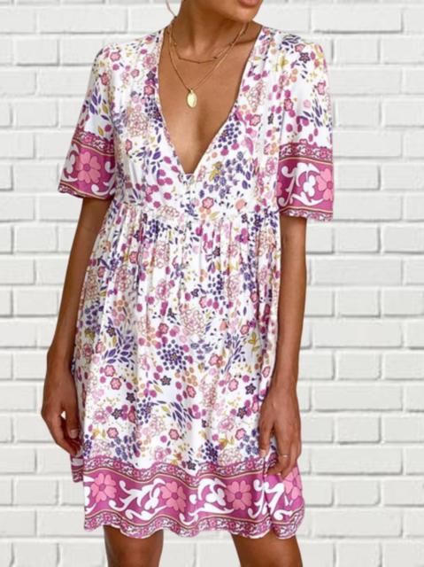 Plus size Printed Boho Dresses