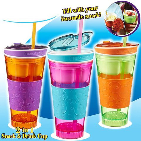 2 In 1 Snack Drink Cup