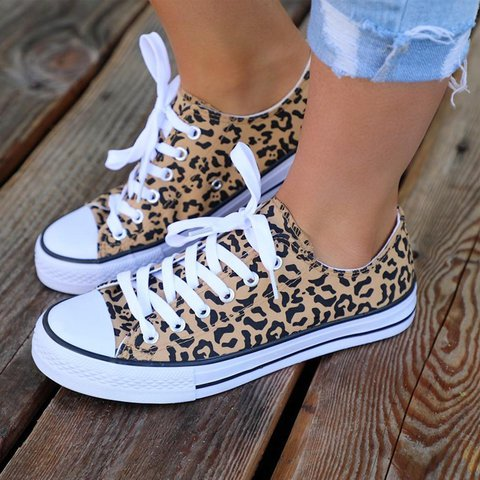 Women Lace-Up Summer Daily Cloth Sneakers