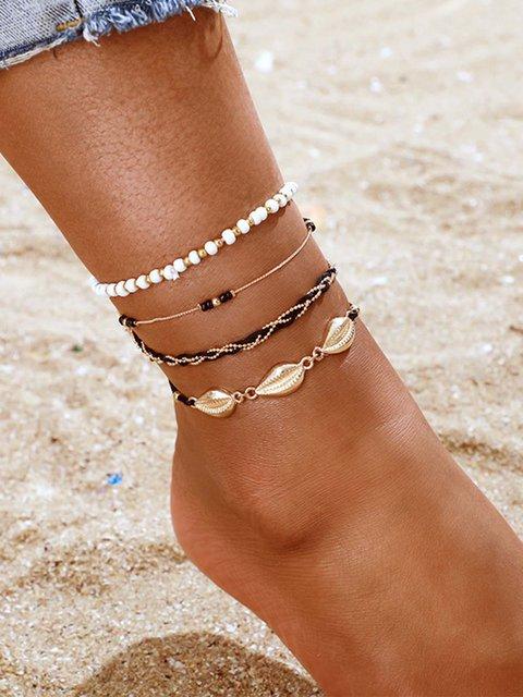 Black Triangle Anklets