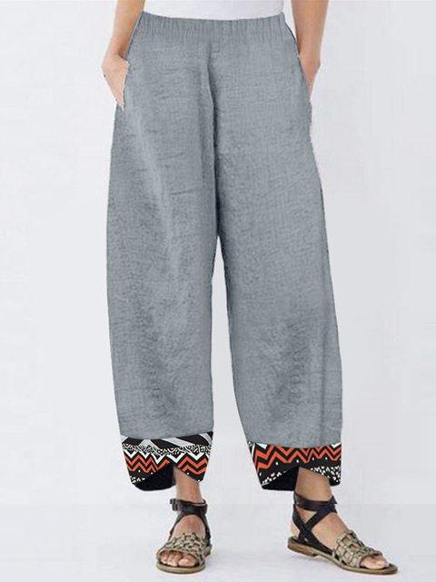 Women's Summer Casual Plus Size Cotton Pants