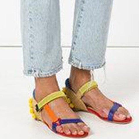 Women Colorful Boho Comfy Sandal