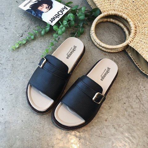 Pi Clue Artificial Leather Casual Slippers