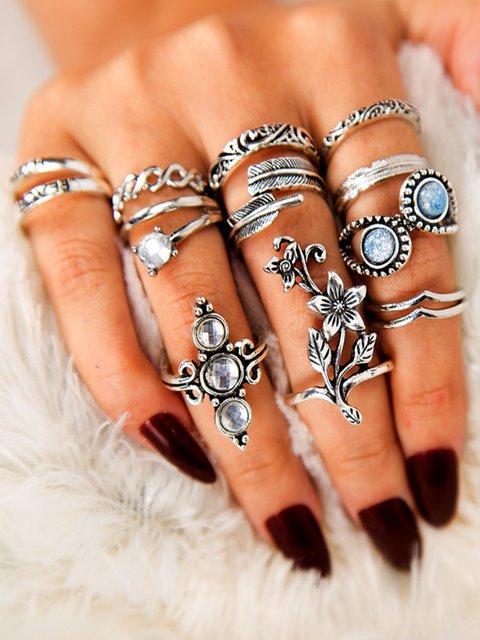 One Set Of 13 Vintage Rings