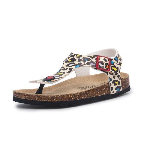 Summer Buckle Slip-On Sandals