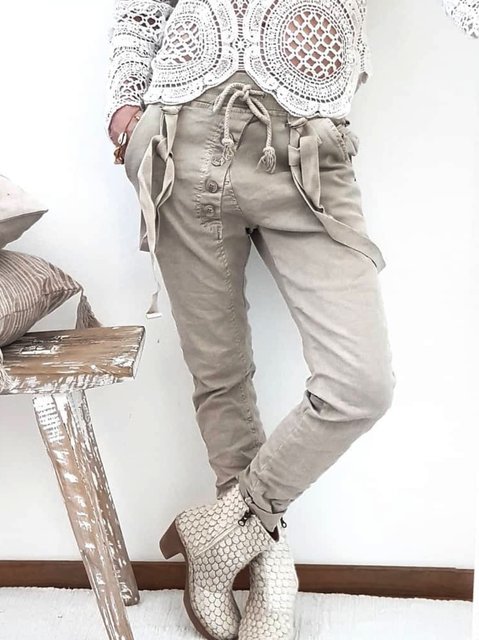 Plus size Solid Casual Pants