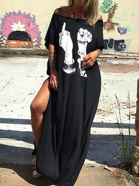 Casual Scoop Neckline Dresses