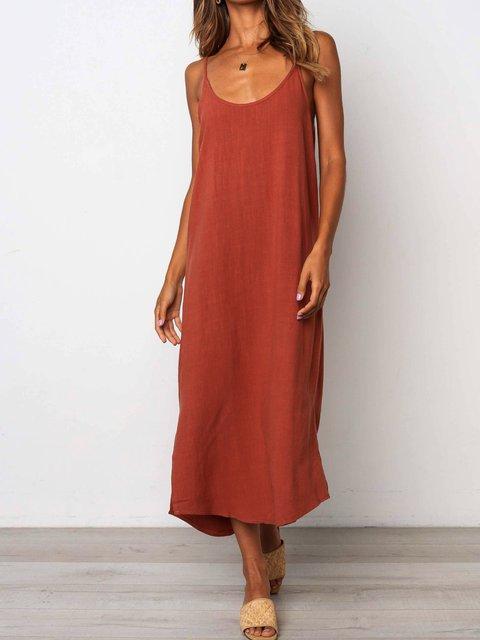 Spaghetti Sleeveless Casual Dresses