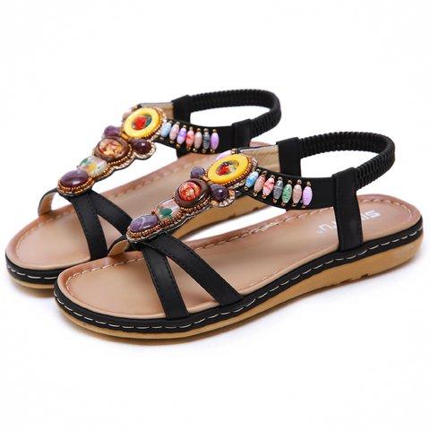 Bohemian vacation beach seaside beach shoes