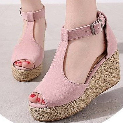 Hollow-Out Wedges High Heel  Sandals