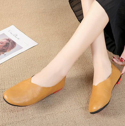 Vintage Casual  Solid Pu Flats