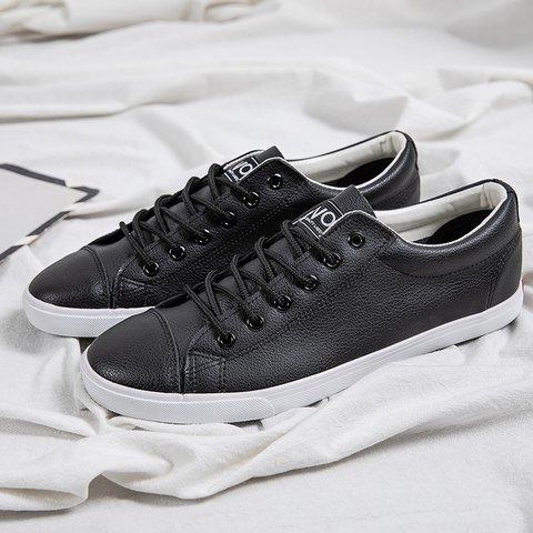 Pu Solid Daily Flat Heel Sneakers