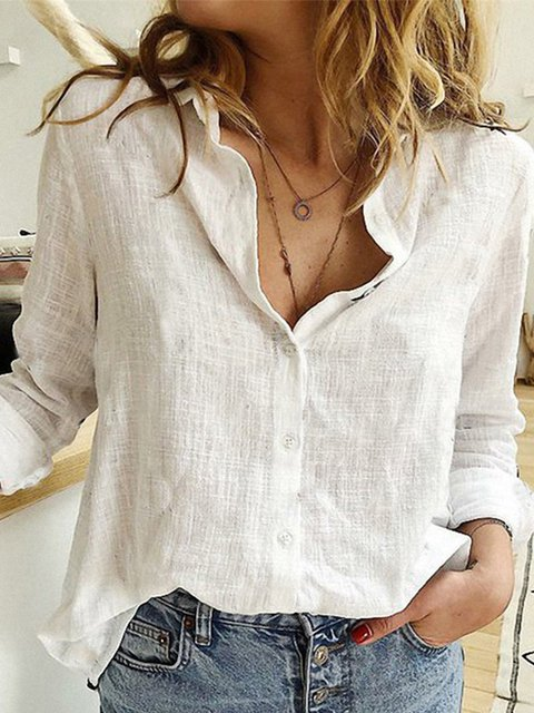 Shift Cotton-Blend Shirts & Tops