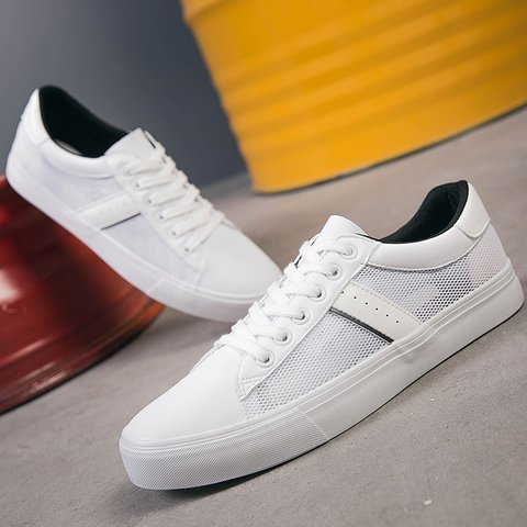 Retro Mesh Breathable White Sneaker
