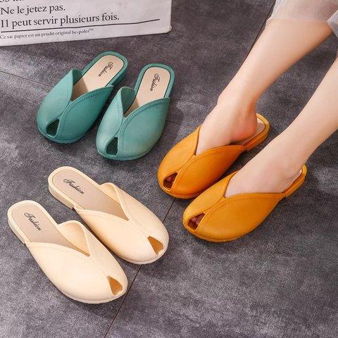 Summer Flat Heel Jelly Slippers
