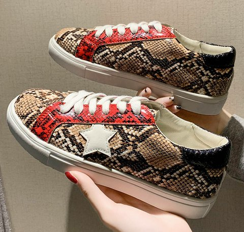 Heavy-soled lace-up casual slip-free comfortable flat shoes