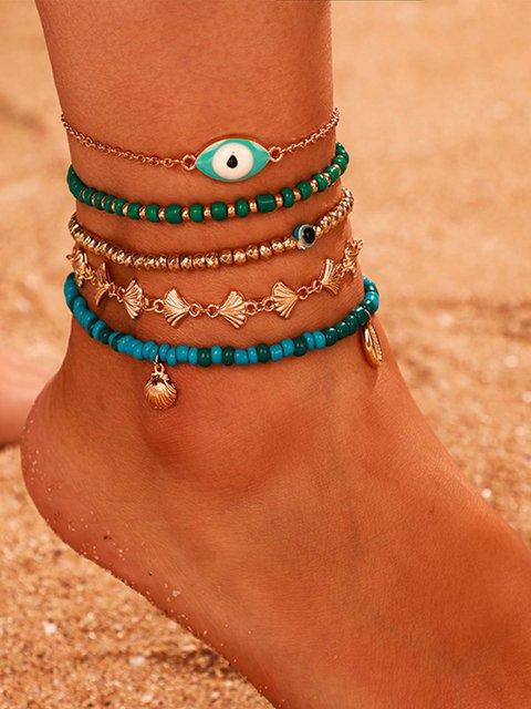 Blue Drop Anklets