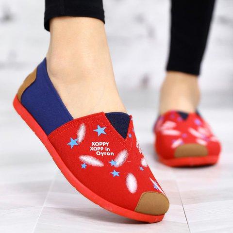 Women Canvas Slip-On Casual Plus Size Flats
