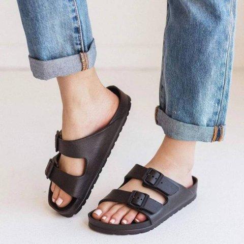 Waterproof Sandals with Double Buckle Adjustable Buckles