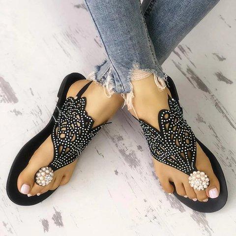 Women Casual Summer Comfy Open Toe Flat Sandals