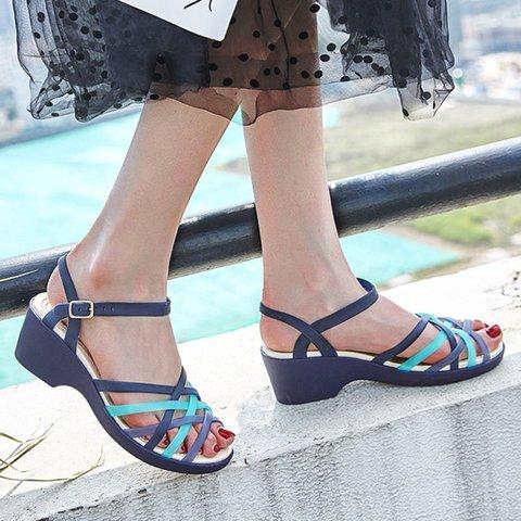 Pi Clue Pvc Block Heel Sandals