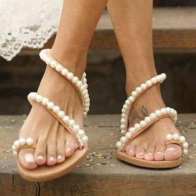 Flat Heel Pu Sandals
