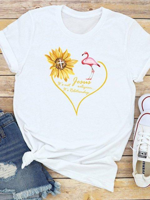 Sunflower Short Sleeve Shirts & Tops
