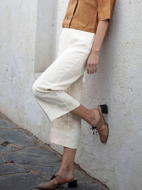 Comfort Linen Crop Pants