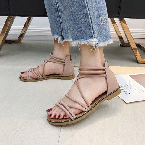 Pi Clue Zipper Summer Sandals