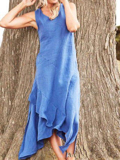 Sleeveless Casual Paneled Dresses