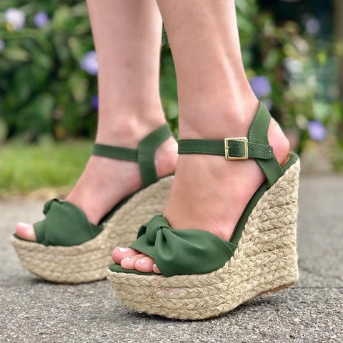 Wedge Heel Summer Buckle Strap Espadrille Sandals