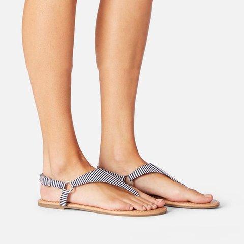 Women Summer Button Thong Sandals
