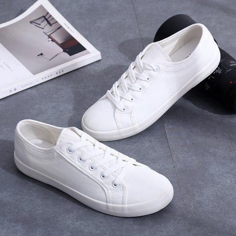 Solid Canvas Fall Casual Shoes