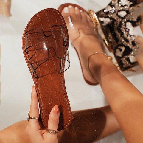 Date Flat Heel Jelly Slippers
