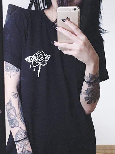 Rose Print Shirts & Tops