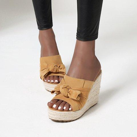 Summer Bowknot Espadrille Sandals