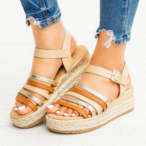 Women Summer Slip-On Espadrille Sandals