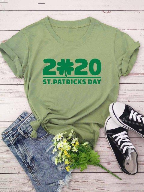 Women Plus Size Leaf Letter Print Casual T-Shirts