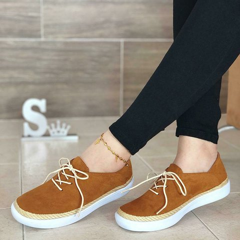 Summer Casual Lace-Up Sneakers