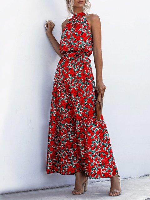 Floral Printed Boho Holiday Maxi Dress