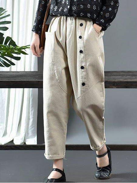 Vintage Paneled Cotton Pants
