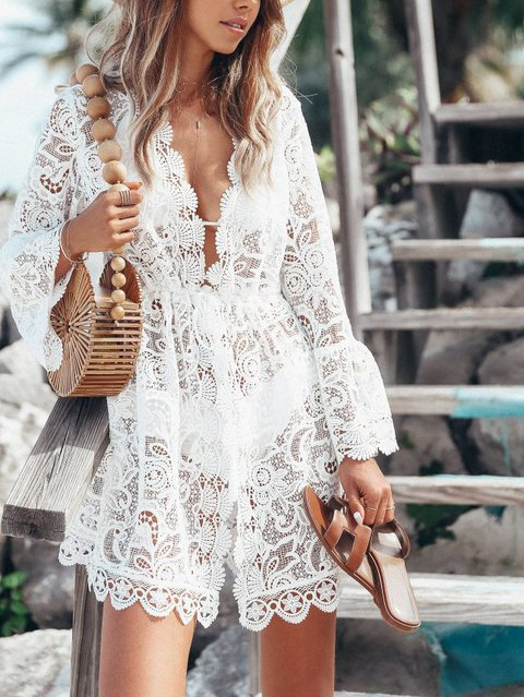 Lace Long Sleeve Outerwear