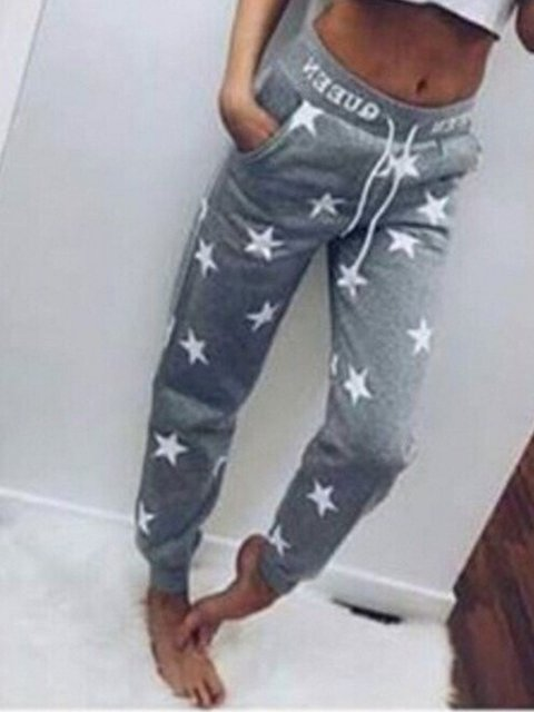 Star Cotton-Blend Pants