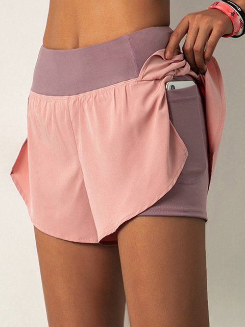 Women Yoga Pocket Shorts Sports Hot Pants