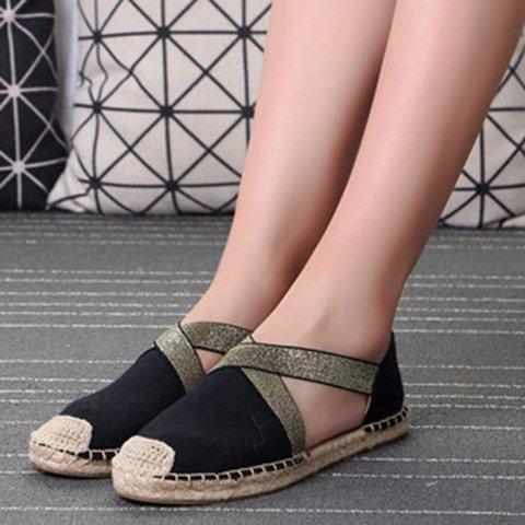 Slip-On Slip-On Elastic Flat Heel Round Toe Band Sandals