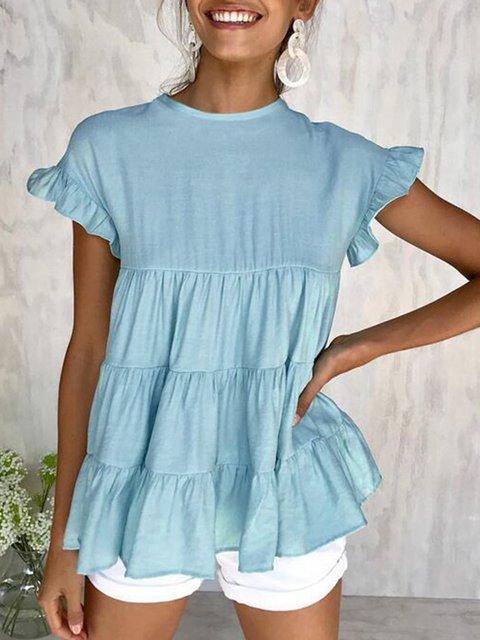 Holiday Frill Sleeve Shirts & Tops