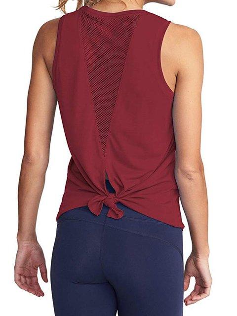 Yoga Solid Camisole Sleeveless Sport Tank
